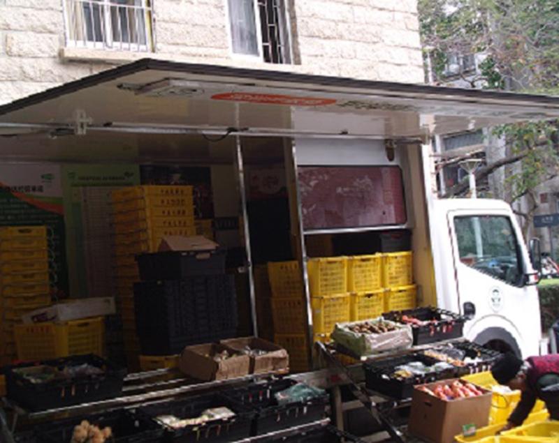 深圳流动卖菜车-冷藏车厢